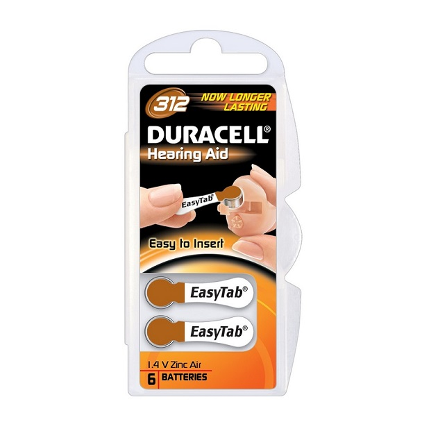 image regarding Duracell Hearing Aid Batteries 312 Coupons Printable referred to as Baterii auditive Duracell, DA312N6, 312, PR41, preset 6 buc